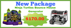 Ninja Turtles Bounce House + Generator